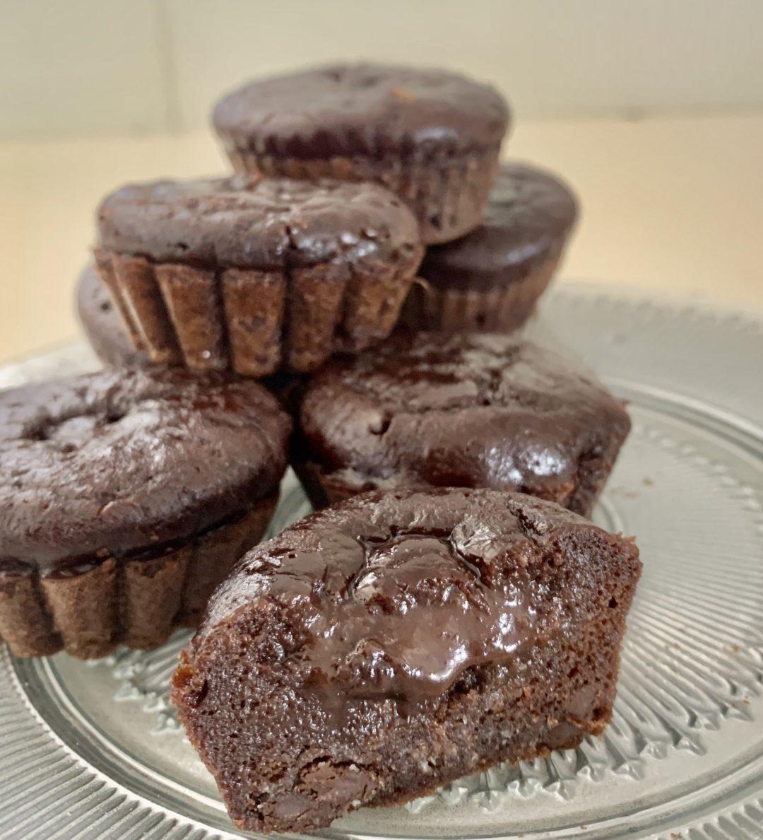 מאפינס שוקולד מקמח בוטנים